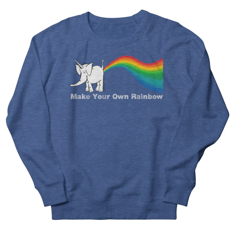Make Your Own Rainbow ( White Lettering ) - Cy The Elephart Men's Sweatshirt by Cy The Elephart's phArtist Shop