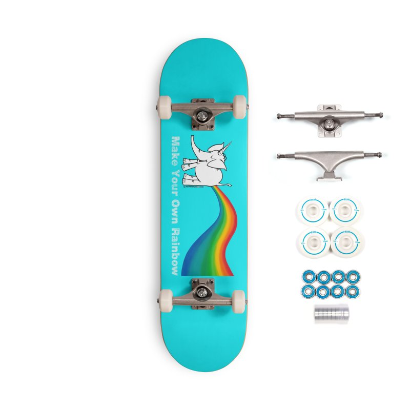 Make Your Own Rainbow ( White Lettering ) - Cy The Elephart Accessories Skateboard by Cy The Elephart's phArtist Shop