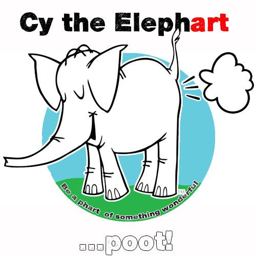 Cy The Elephart's phArtist Shop Logo