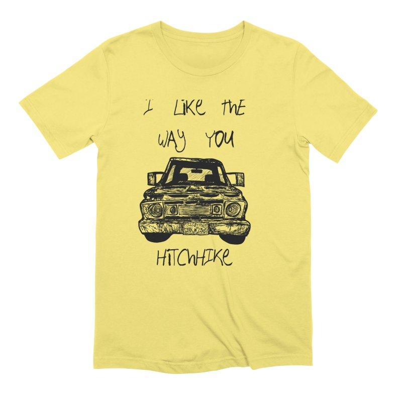 I Like The Way You Hitchhike - JAX IN LOVE Men's T-Shirt by Cyclamen Films Merchandise