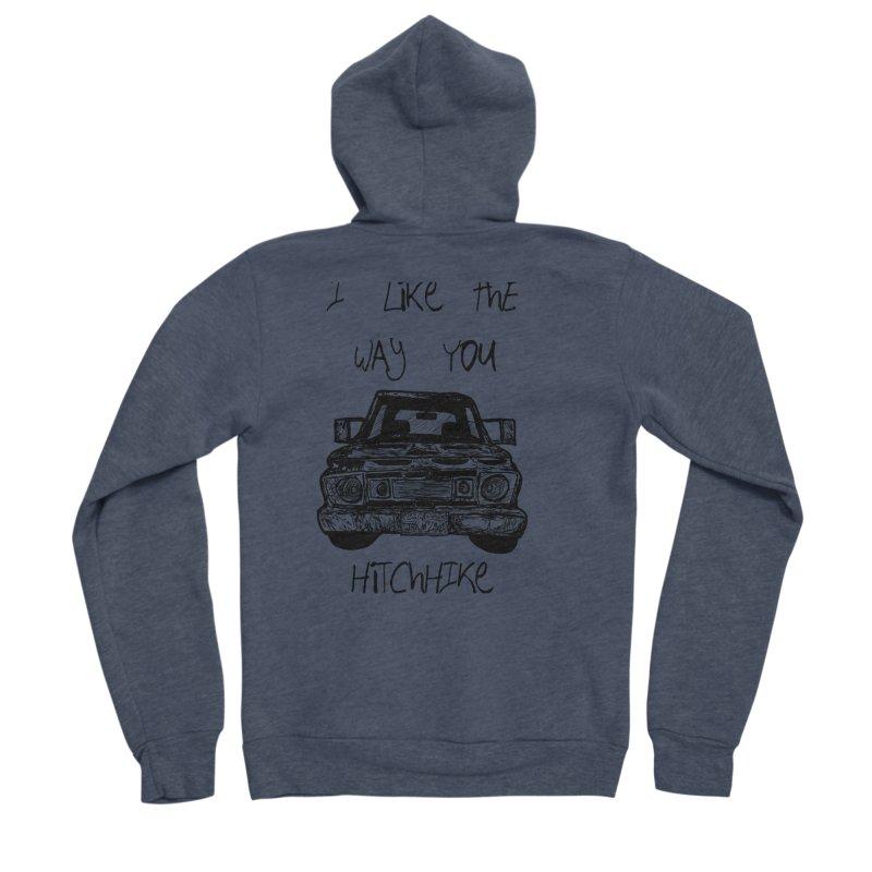 I Like The Way You Hitchhike - JAX IN LOVE Men's Sponge Fleece Zip-Up Hoody by Cyclamen Films Merchandise