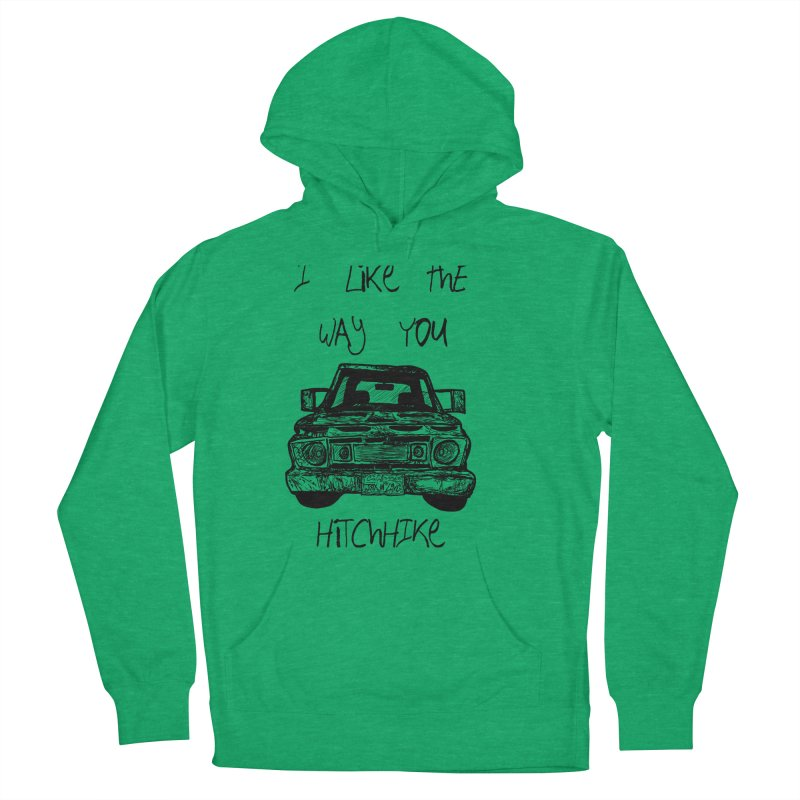 I Like The Way You Hitchhike - JAX IN LOVE Women's French Terry Pullover Hoody by Cyclamen Films Merchandise