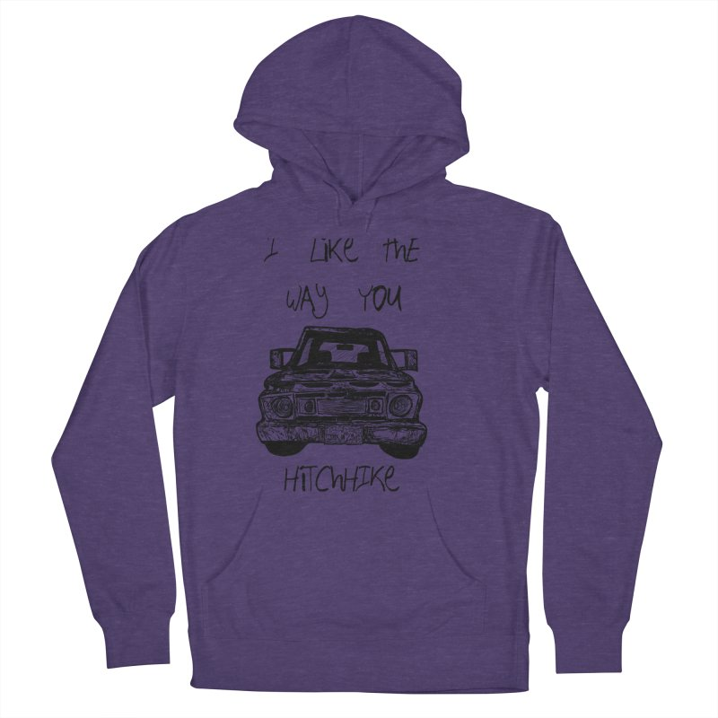 I Like The Way You Hitchhike - JAX IN LOVE Men's French Terry Pullover Hoody by Cyclamen Films Merchandise