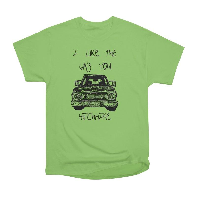 I Like The Way You Hitchhike - JAX IN LOVE Men's Heavyweight T-Shirt by Cyclamen Films Merchandise