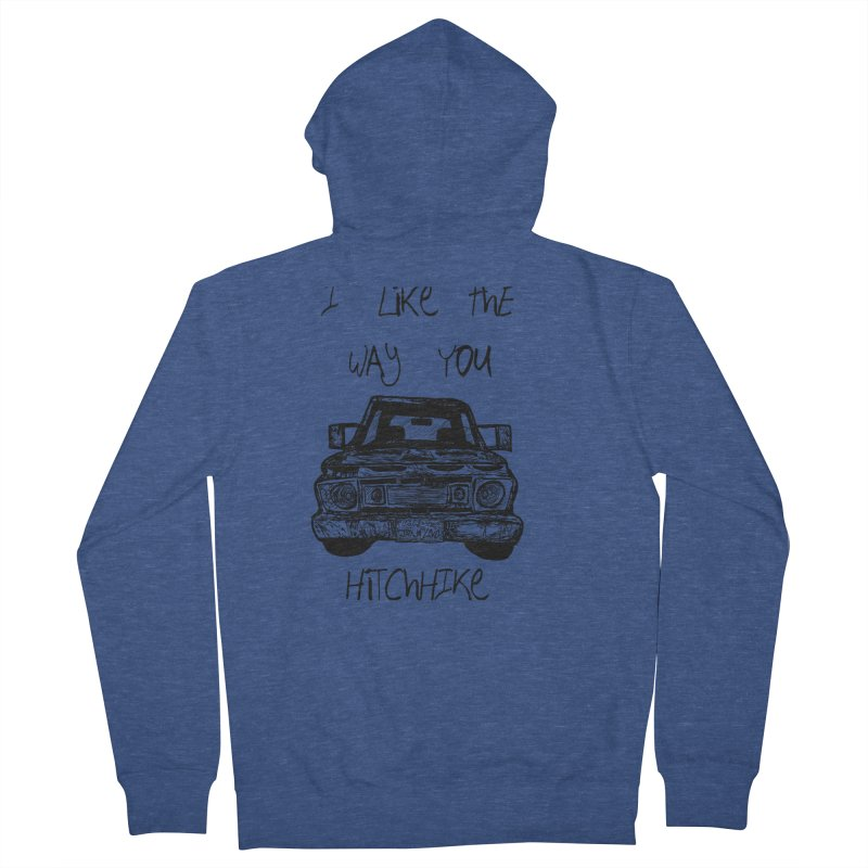 I Like The Way You Hitchhike - JAX IN LOVE Women's French Terry Zip-Up Hoody by Cyclamen Films Merchandise