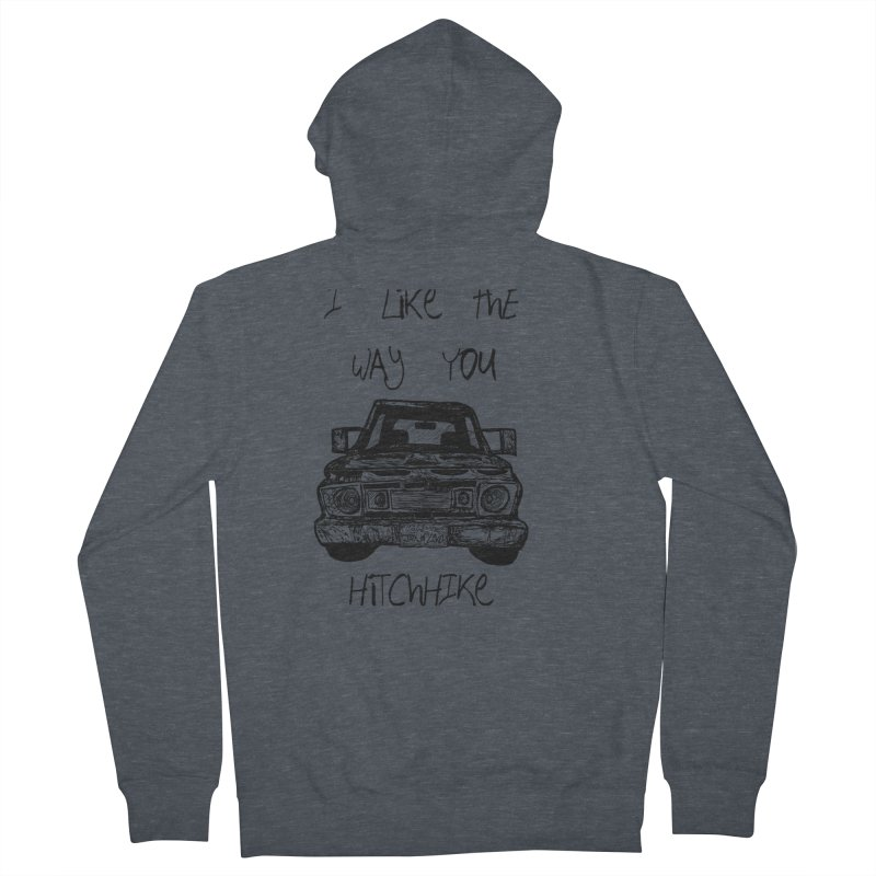 I Like The Way You Hitchhike - JAX IN LOVE Men's French Terry Zip-Up Hoody by Cyclamen Films Merchandise