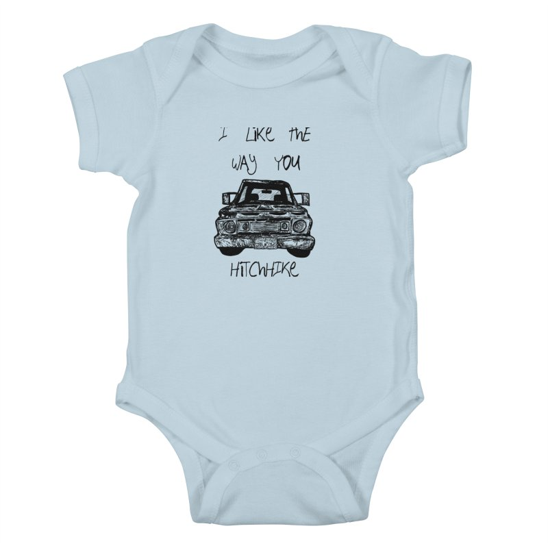I Like The Way You Hitchhike - JAX IN LOVE Kids Baby Bodysuit by Cyclamen Films Merchandise