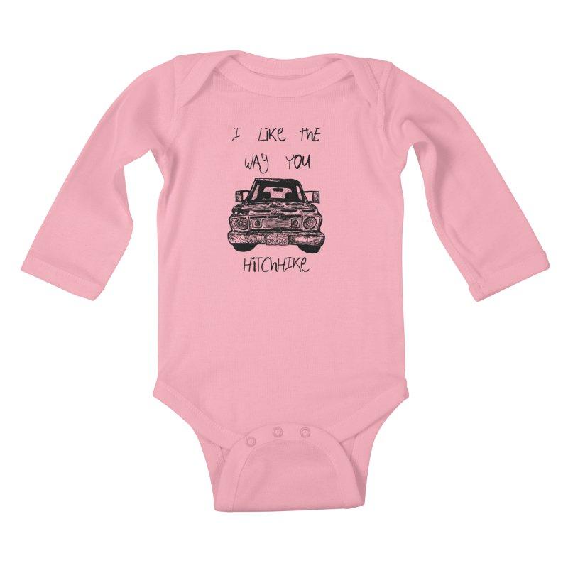 I Like The Way You Hitchhike - JAX IN LOVE Kids Baby Longsleeve Bodysuit by Cyclamen Films Merchandise