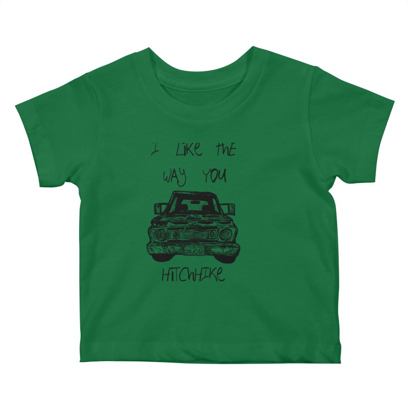 I Like The Way You Hitchhike - JAX IN LOVE Kids Baby T-Shirt by Cyclamen Films Merchandise