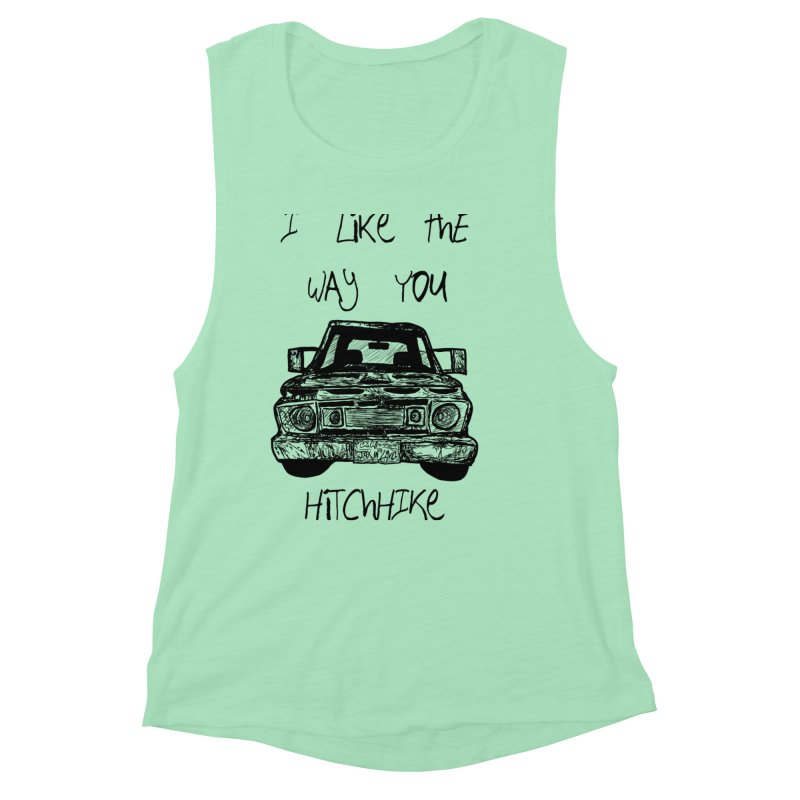 I Like The Way You Hitchhike - JAX IN LOVE Women's Muscle Tank by Cyclamen Films Merchandise