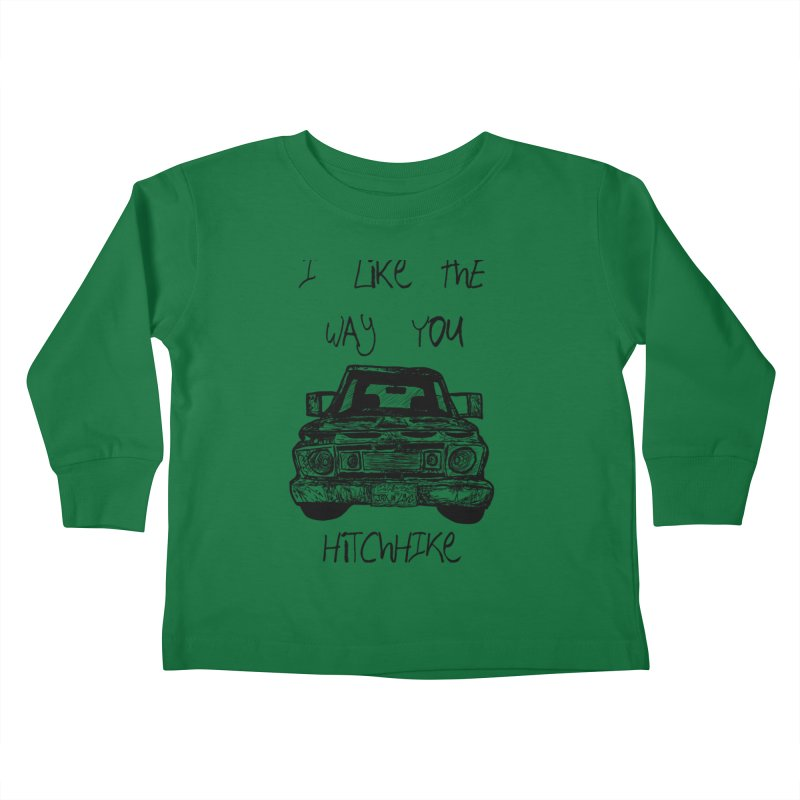 I Like The Way You Hitchhike - JAX IN LOVE Kids Toddler Longsleeve T-Shirt by Cyclamen Films Merchandise