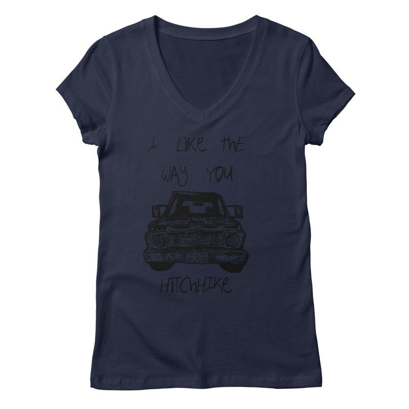 I Like The Way You Hitchhike - JAX IN LOVE Women's Regular V-Neck by Cyclamen Films Merchandise
