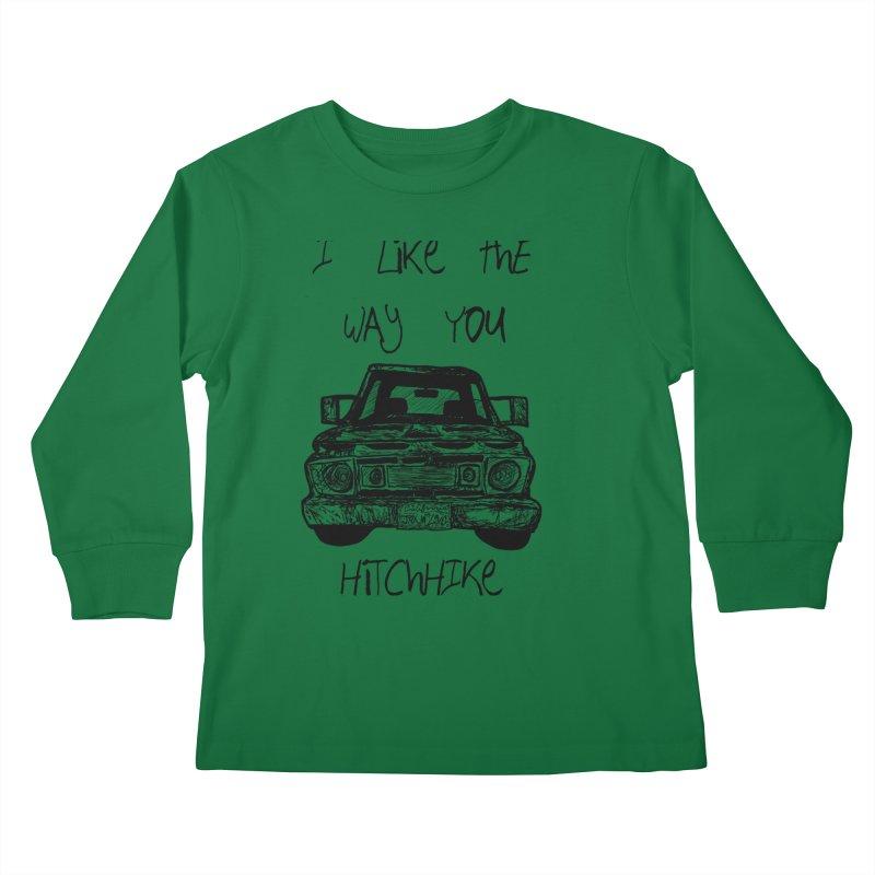 I Like The Way You Hitchhike - JAX IN LOVE Kids Longsleeve T-Shirt by Cyclamen Films Merchandise
