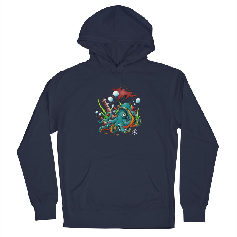 Riptide (Color V.1) Men's French Terry Pullover Hoody by CyndaChill's Apparel Shop