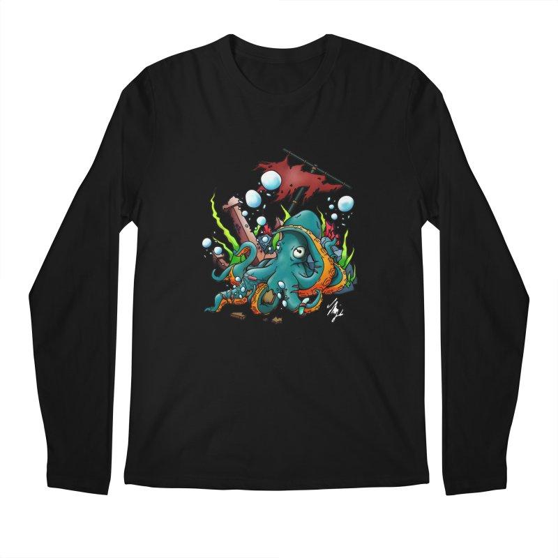 Riptide (Color V.1) Men's Regular Longsleeve T-Shirt by CyndaChill's Apparel Shop