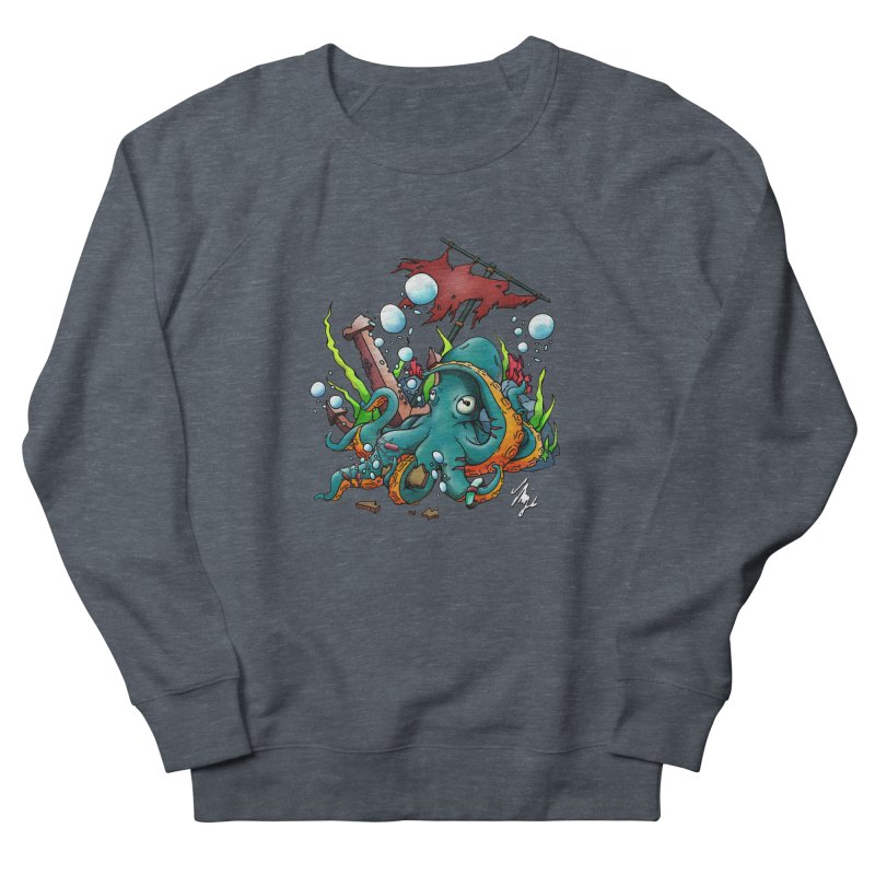 Riptide (Color V.1) Women's French Terry Sweatshirt by CyndaChill's Apparel Shop