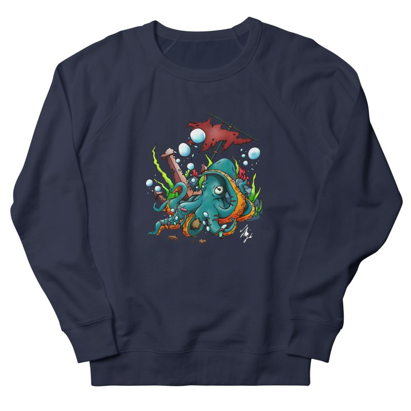Riptide (Color V.1) Men's French Terry Sweatshirt by CyndaChill's Apparel Shop