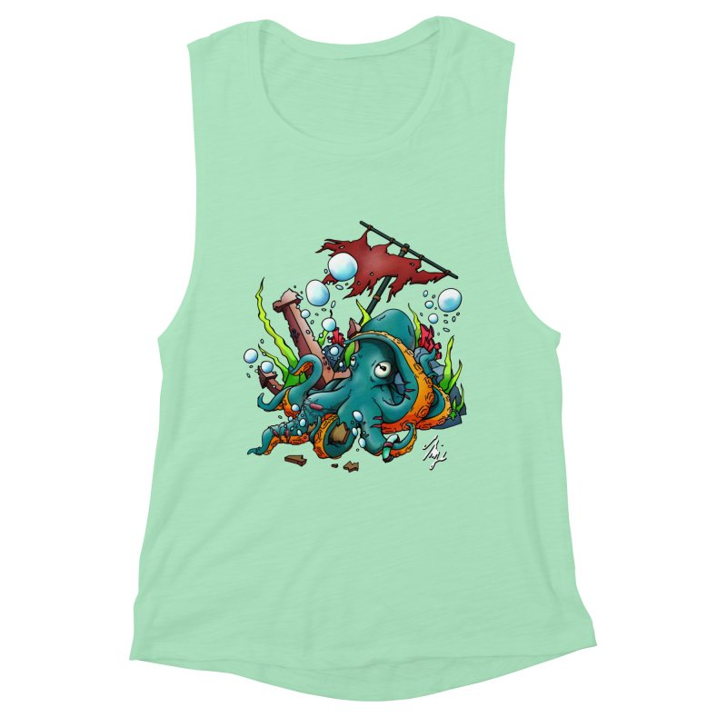 Riptide (Color V.1) Women's Muscle Tank by CyndaChill's Apparel Shop