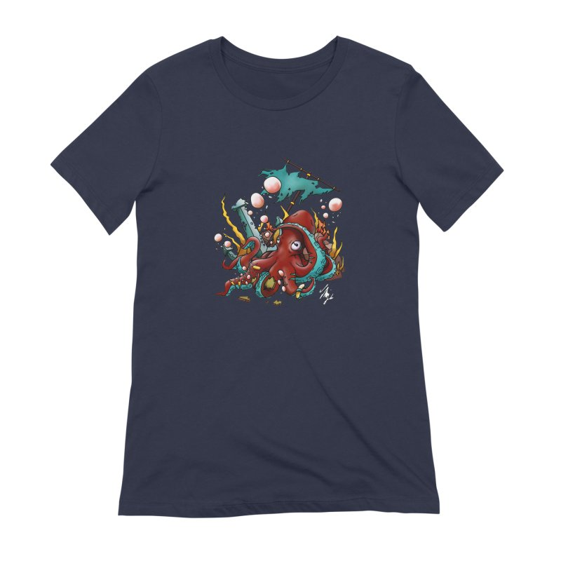 Riptide (Color V.2) Women's Extra Soft T-Shirt by CyndaChill's Apparel Shop