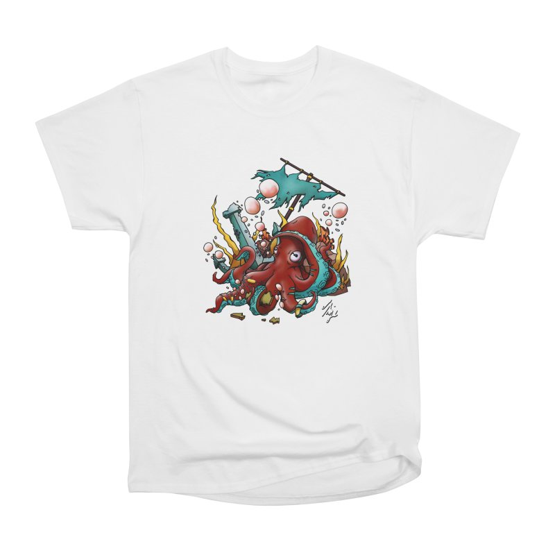 Riptide (Color V.2) in Men's Heavyweight T-Shirt White by CyndaChill's Apparel Shop