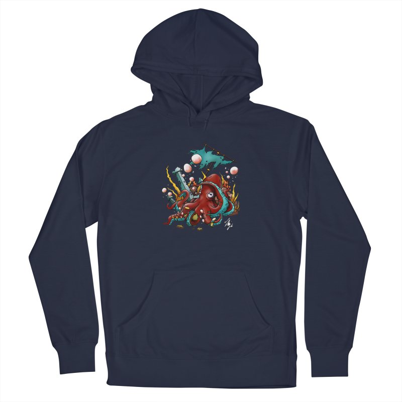 Riptide (Color V.2) Men's French Terry Pullover Hoody by CyndaChill's Apparel Shop