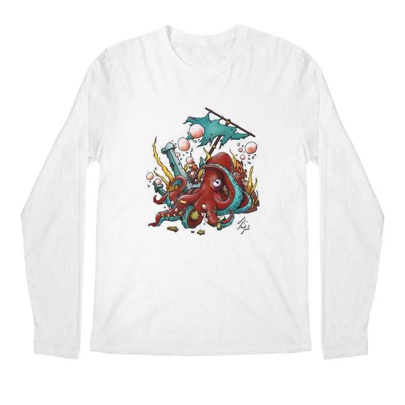 Riptide (Color V.2) Men's Regular Longsleeve T-Shirt by CyndaChill's Apparel Shop