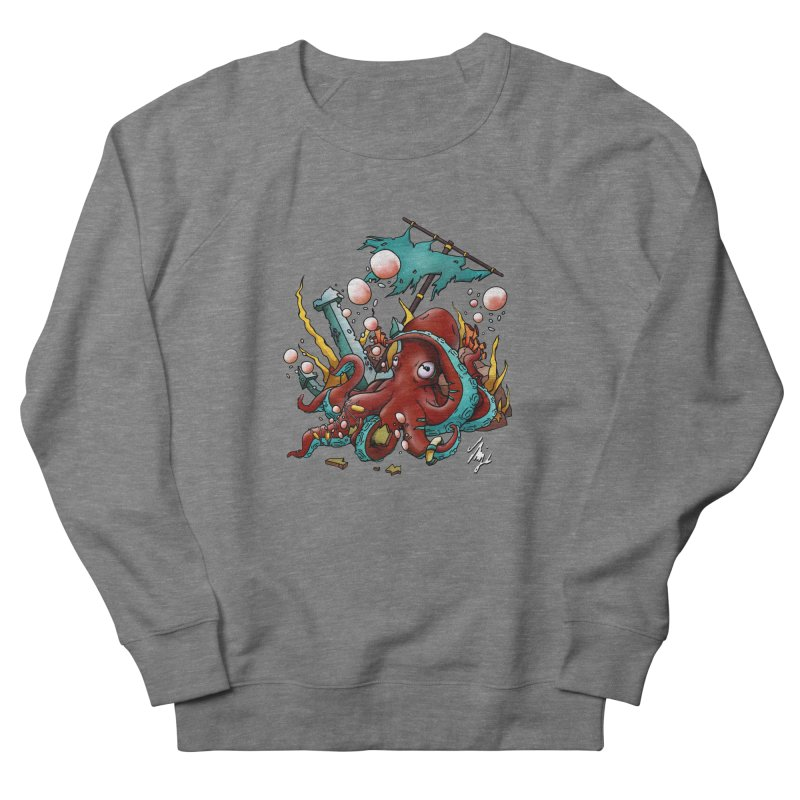 Riptide (Color V.2) Men's French Terry Sweatshirt by CyndaChill's Apparel Shop