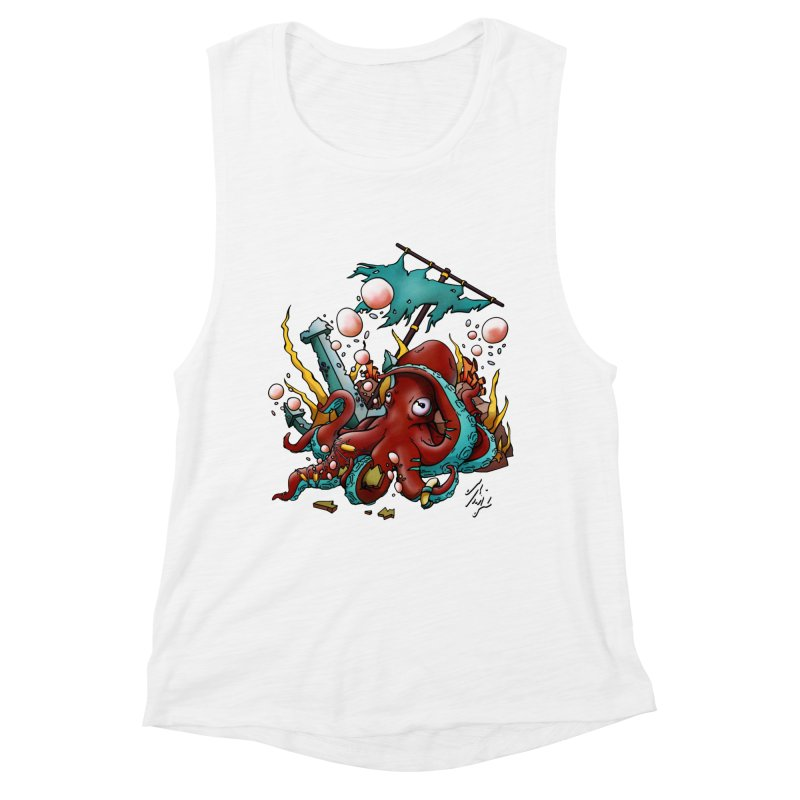 Riptide (Color V.2) Women's Muscle Tank by CyndaChill's Apparel Shop