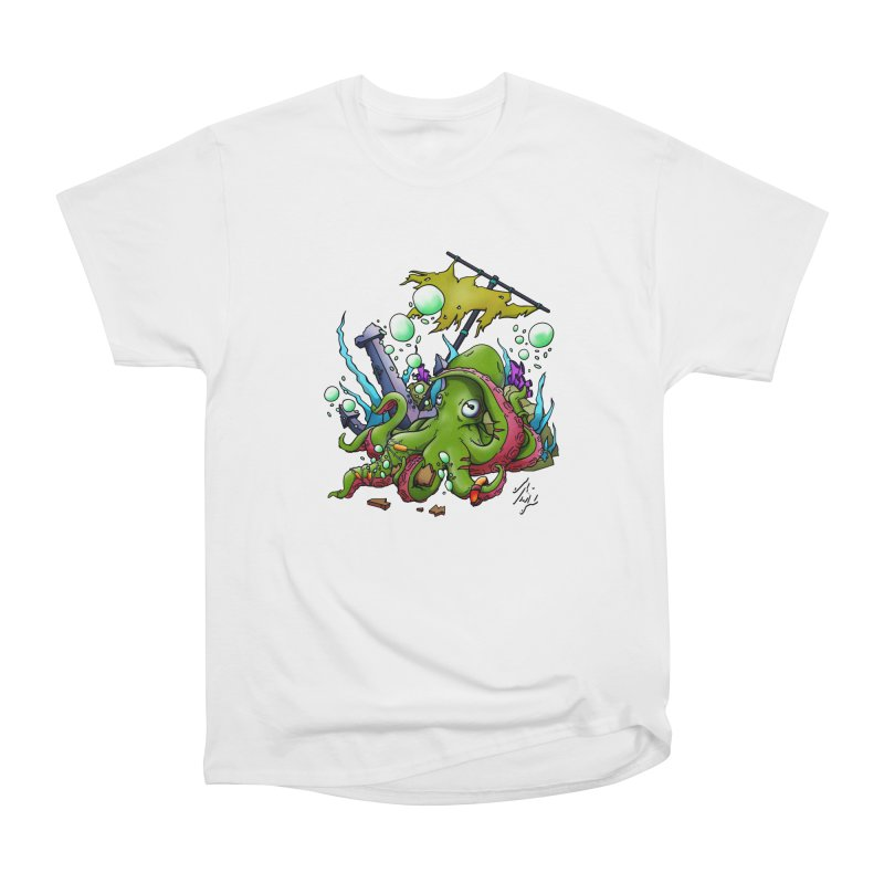 Riptide (Color V.3) in Men's Heavyweight T-Shirt White by CyndaChill's Apparel Shop
