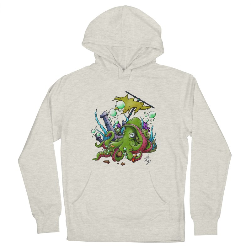 Riptide (Color V.3) Women's French Terry Pullover Hoody by CyndaChill's Apparel Shop