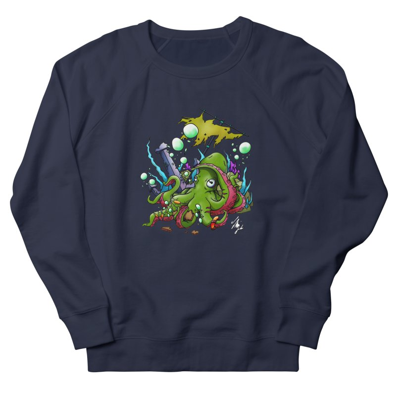 Riptide (Color V.3) Women's French Terry Sweatshirt by CyndaChill's Apparel Shop