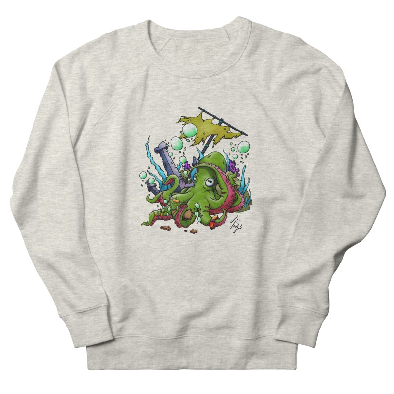 Riptide (Color V.3) Men's French Terry Sweatshirt by CyndaChill's Apparel Shop