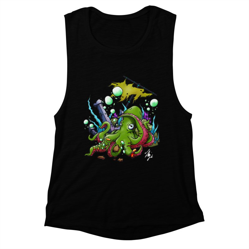 Riptide (Color V.3) Women's Muscle Tank by CyndaChill's Apparel Shop