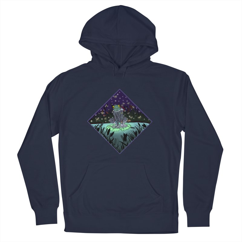 Camp Tadpole Men's French Terry Pullover Hoody by CyndaChill's Apparel Shop