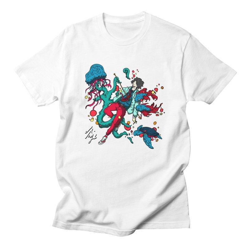 High Tide Men's Regular T-Shirt by CyndaChill's Apparel Shop
