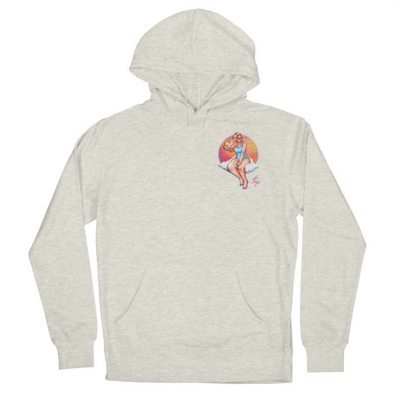 Daydream (Corner Chest) in Men's French Terry Pullover Hoody Heather Oatmeal by CyndaChill's Apparel Shop