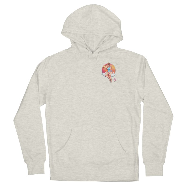 Daydream (Corner Chest) Men's French Terry Pullover Hoody by CyndaChill's Apparel Shop