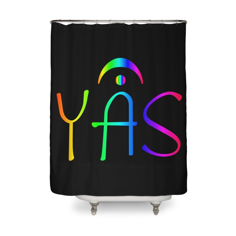 RAINBOW YAS con FERMATA Home Shower Curtain by DC APPAREL