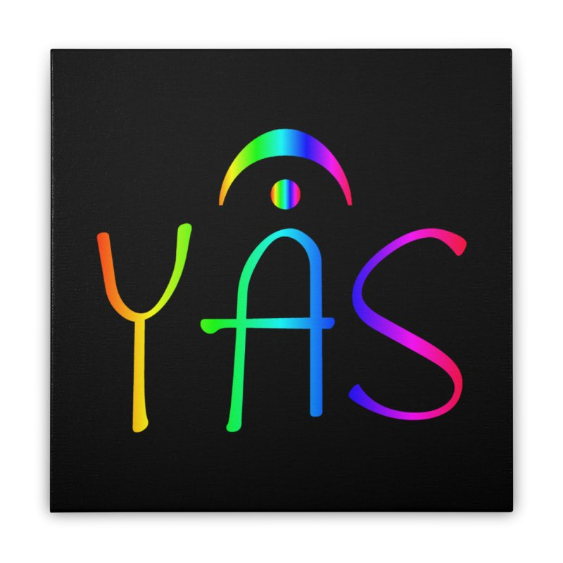 RAINBOW YAS con FERMATA Home Stretched Canvas by DC APPAREL