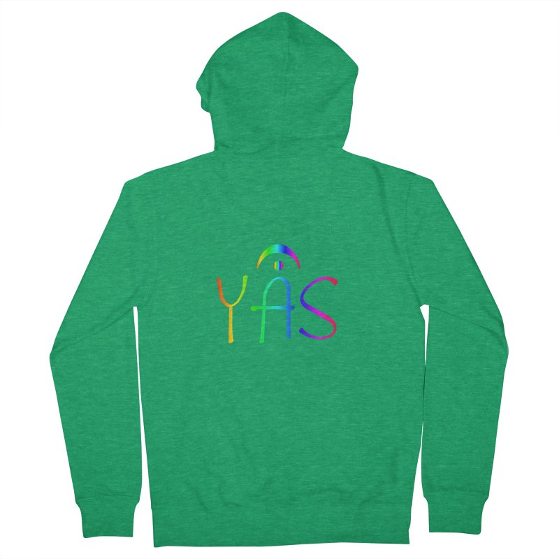 RAINBOW YAS con FERMATA Women's Zip-Up Hoody by DC APPAREL