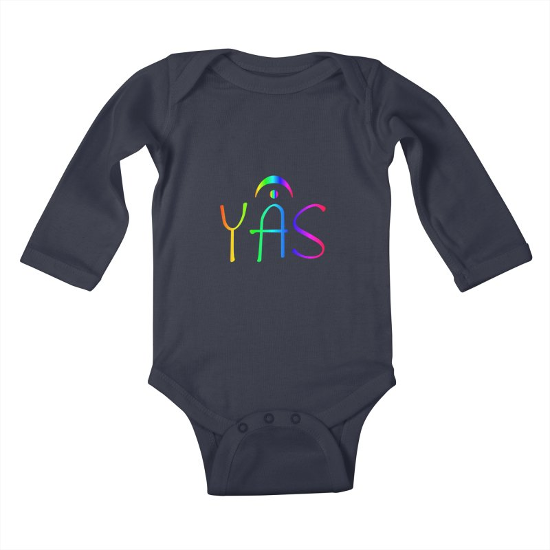 RAINBOW YAS con FERMATA Kids Baby Longsleeve Bodysuit by DC APPAREL