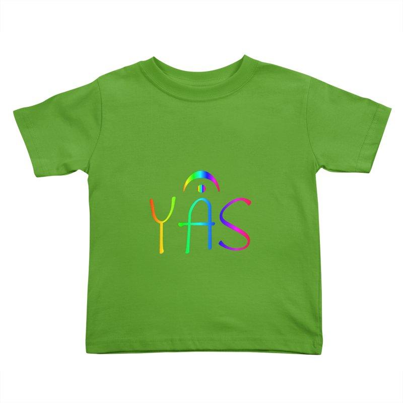RAINBOW YAS con FERMATA Kids Toddler T-Shirt by DC APPAREL