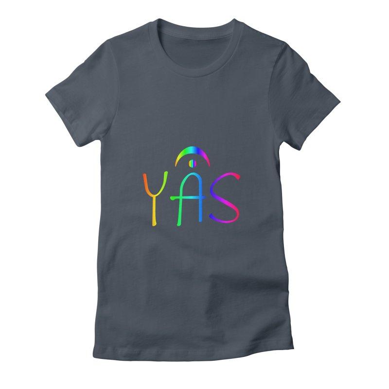RAINBOW YAS con FERMATA Women's T-Shirt by DC APPAREL
