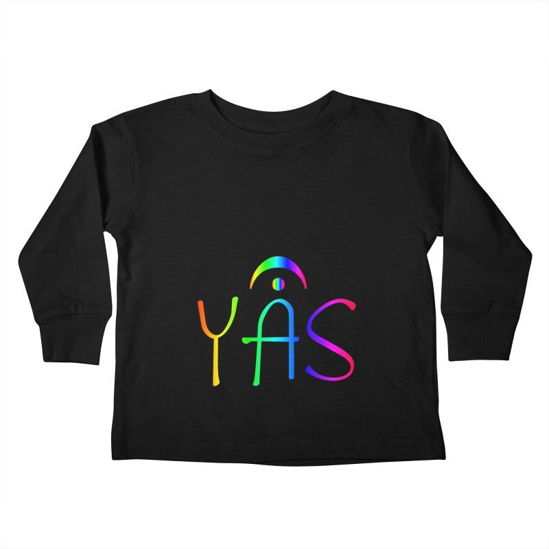 RAINBOW YAS con FERMATA Kids Toddler Longsleeve T-Shirt by DC APPAREL