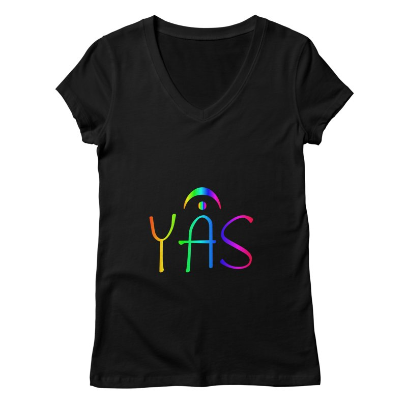 RAINBOW YAS con FERMATA Women's V-Neck by DC APPAREL