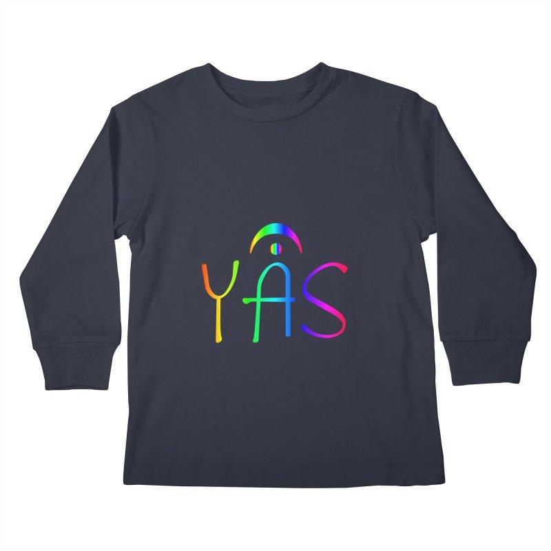RAINBOW YAS con FERMATA Kids Longsleeve T-Shirt by DC APPAREL