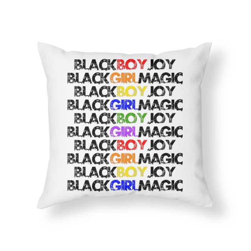 #BlkARTMatters #ForTheKids Home Throw Pillow by DC APPAREL