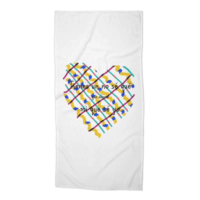nosequé Accessories Beach Towel by DERG's Artist Shop