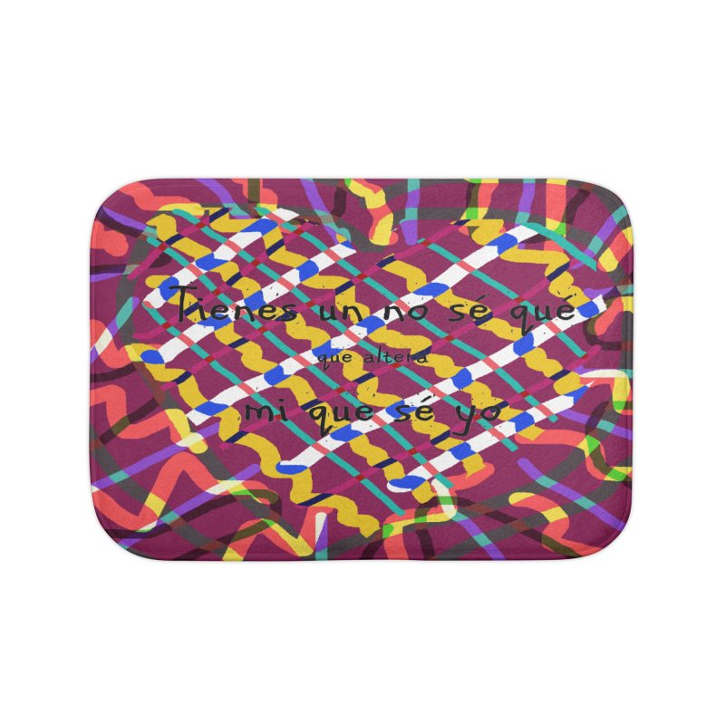 nosequé psychedelic Home Bath Mat by DERG's Artist Shop