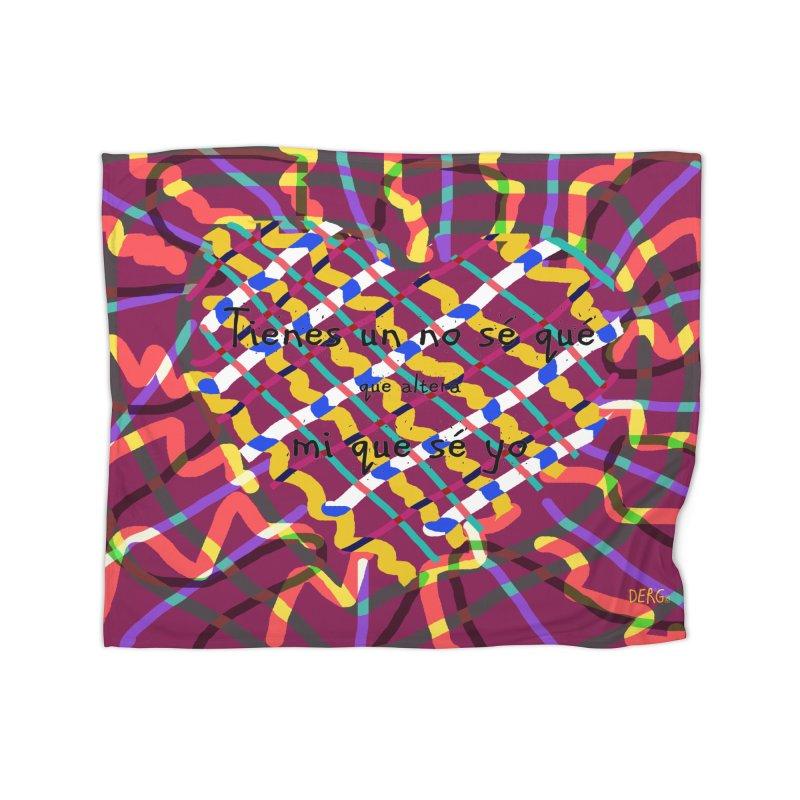 nosequé psychedelic Home Blanket by DERG's Artist Shop